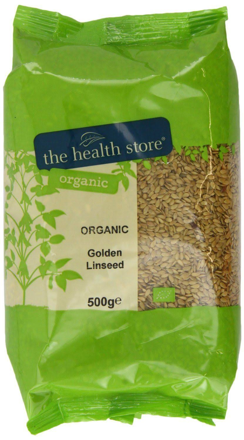 Health Store Organic Golden Linseed 500 G (Pack of 6)