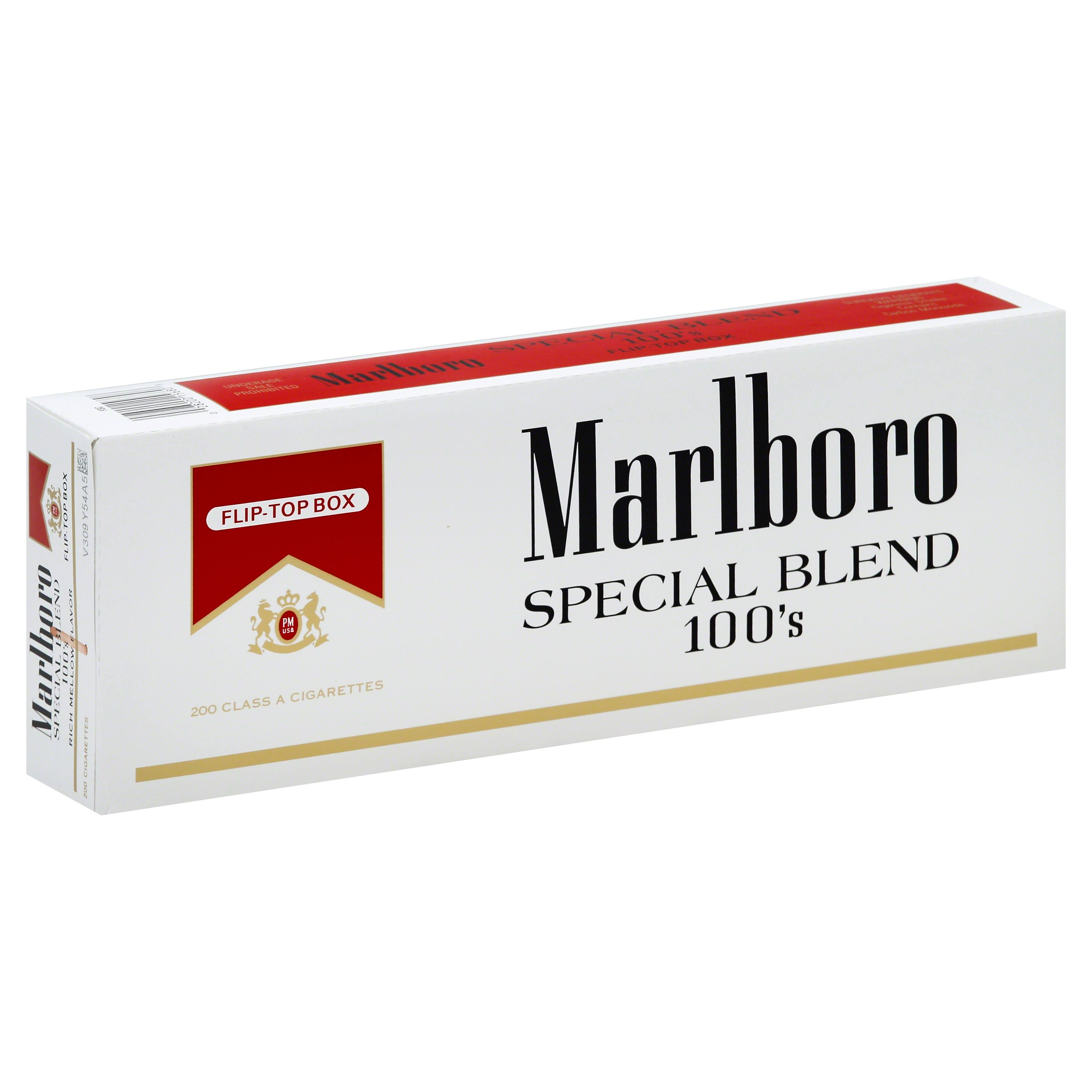 Marlboro Cigarettes, Special Blend, 100's, Flip-Top Box - 200 cigarettes