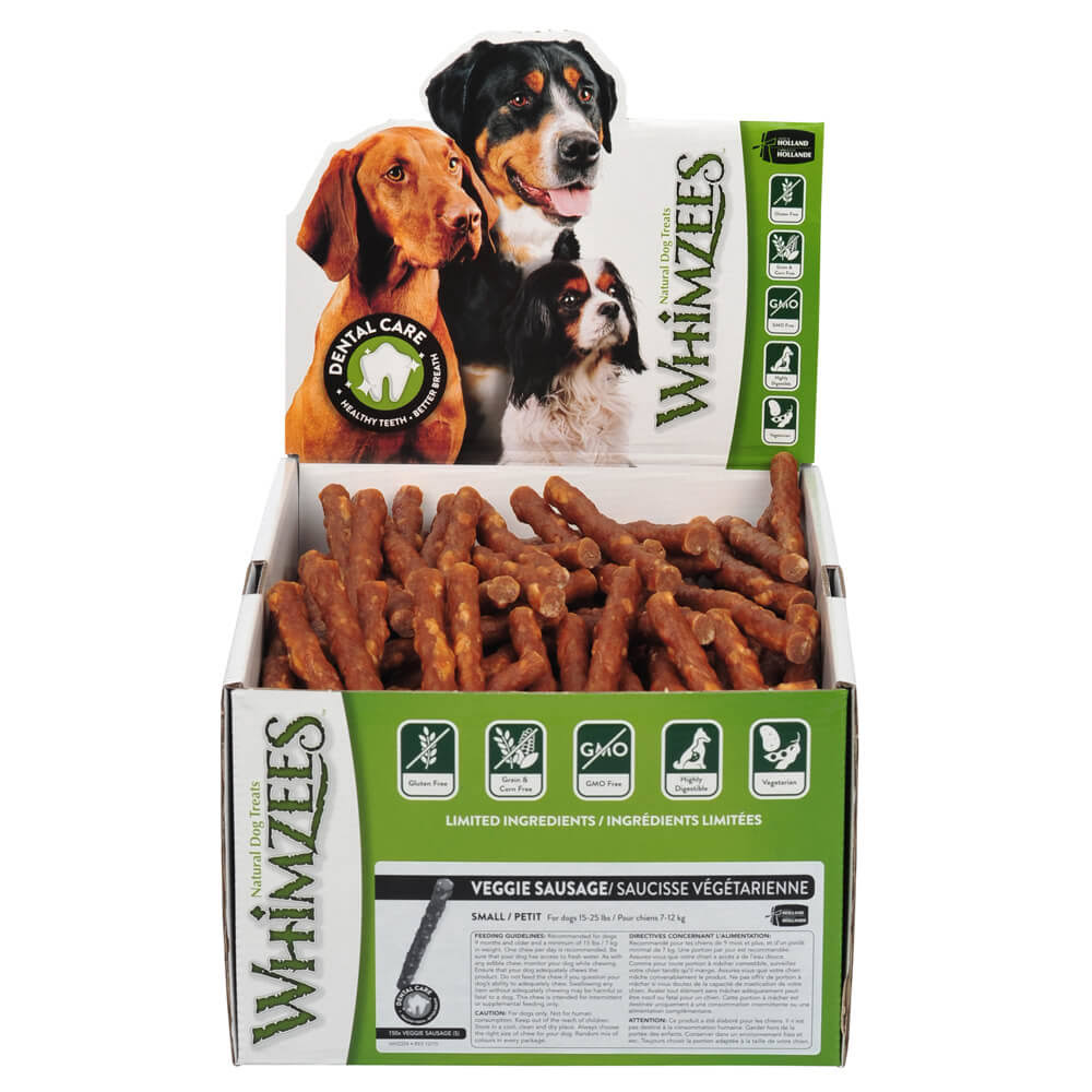 Whimzees Veggie Sausage Dental Dog Treats, S - 150 count
