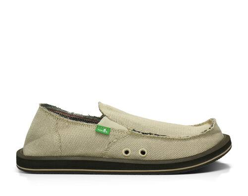 Sanuk Mens Hemp Sidewalk Surfer Shoe - Natural, 13 US