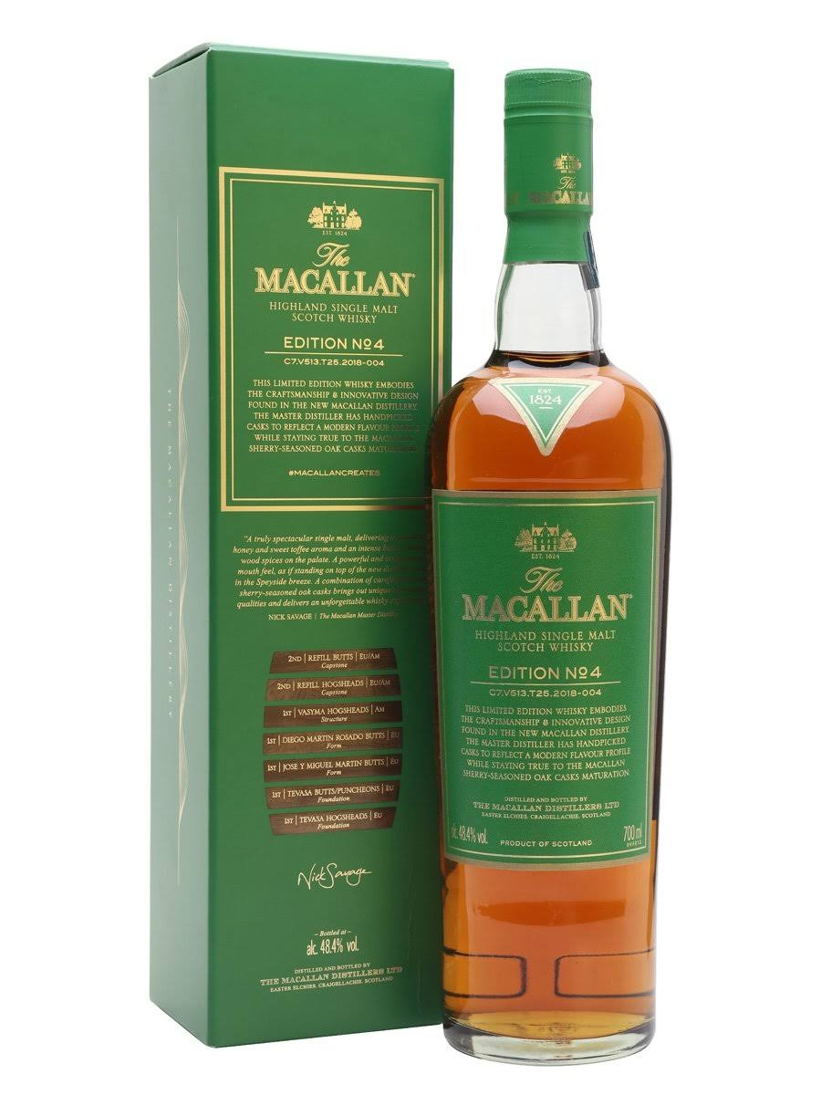 The Macallan Scotch Single Malt Edition No. 4 750ml