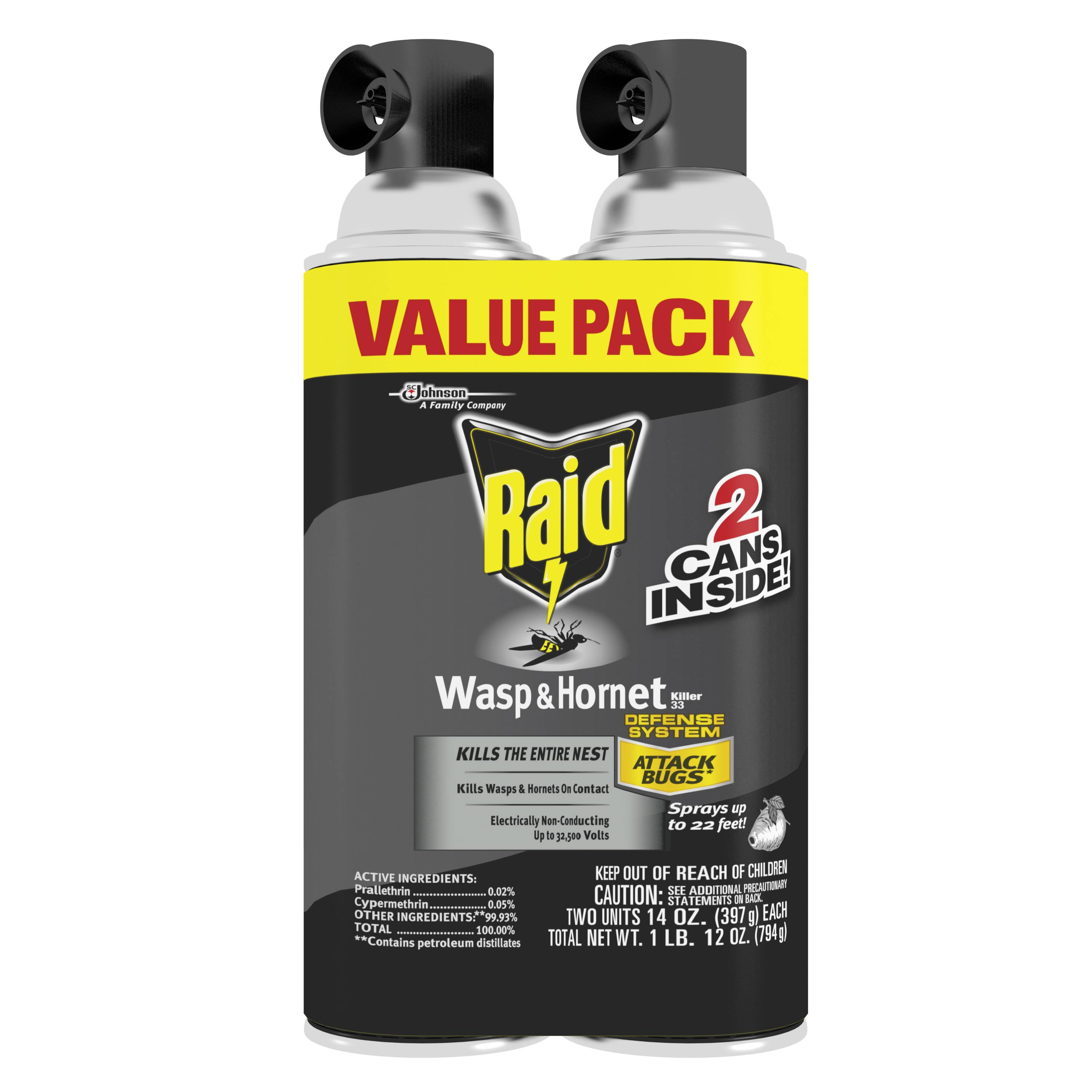 SC Johnson Raid Wasp & Hornet Killer - 14oz, 2pcs