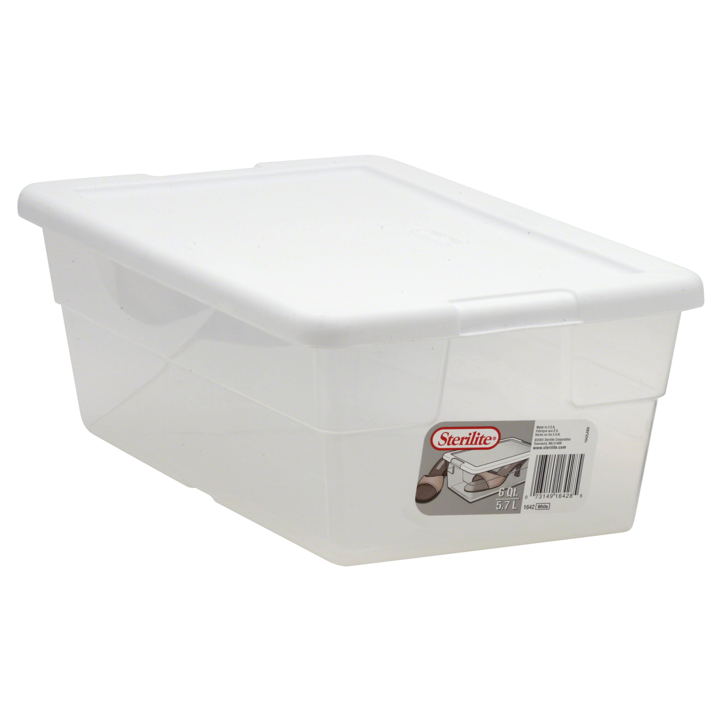 Sterilite Storage Container - White