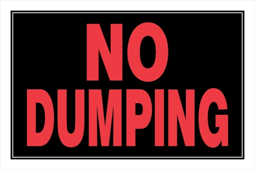 "The Hillman Group Plastic No Dumping Sign - 8""x12"""