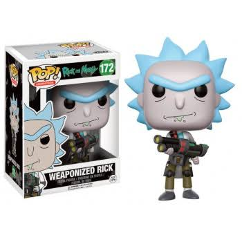 Funko Pop! Animation Rick and Morty Vinyl Figure - Weaponized Rick, 3.75in