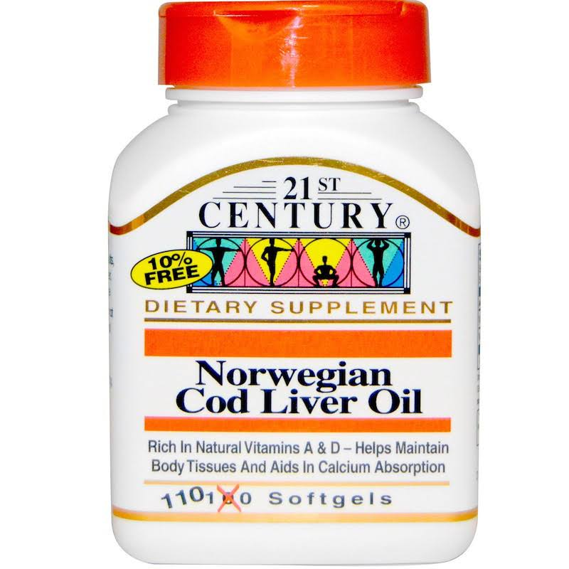 21st Century Norwegian Cod Liver Oil Vitamins - 110 Softgels