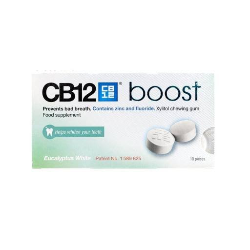 CB12 10 Boost Chewing Gum - Eucalyptus White, 20g