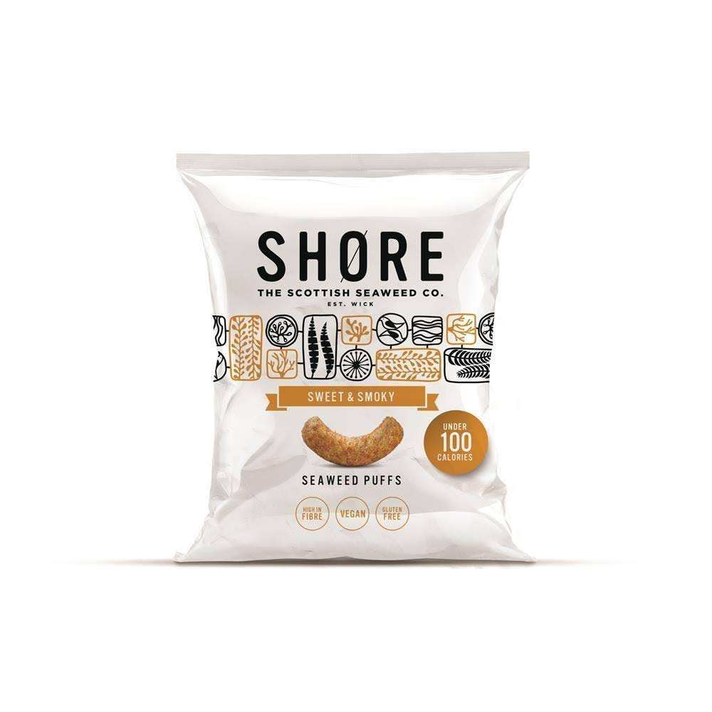 SHØRE Sweet and Smoky Seaweed Puffs - 22.5g