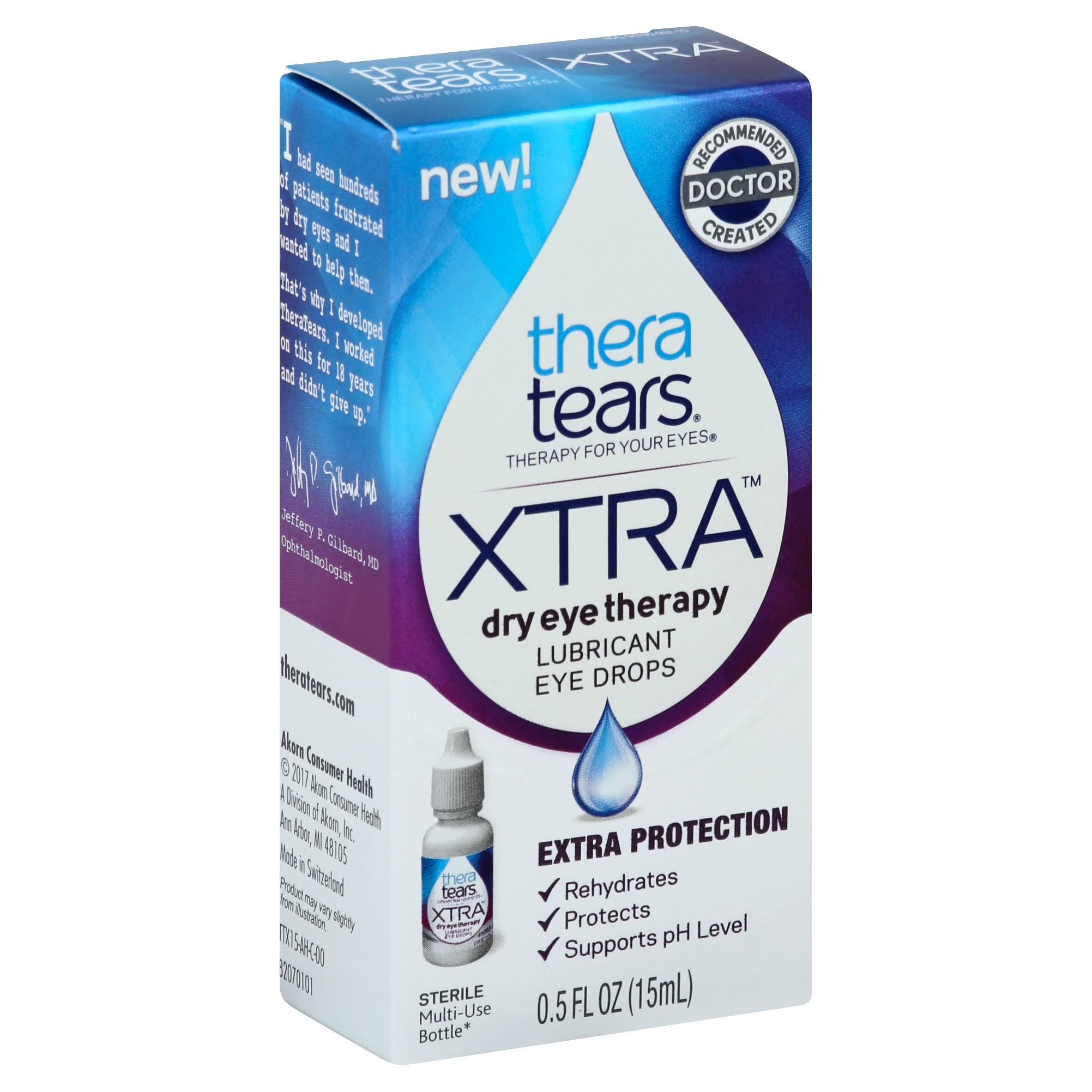 Thera Tears Eye Drops, Lubricant, Xtra - 0.5 fl oz