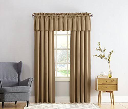 Sun Zero Madison Room Darkening Rod Pocket Curtain Panel Taupe