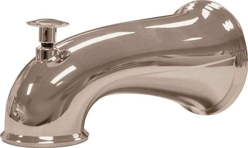 Danco Decorative Tub Spout with Diverter - Brushed Nickel, 6""