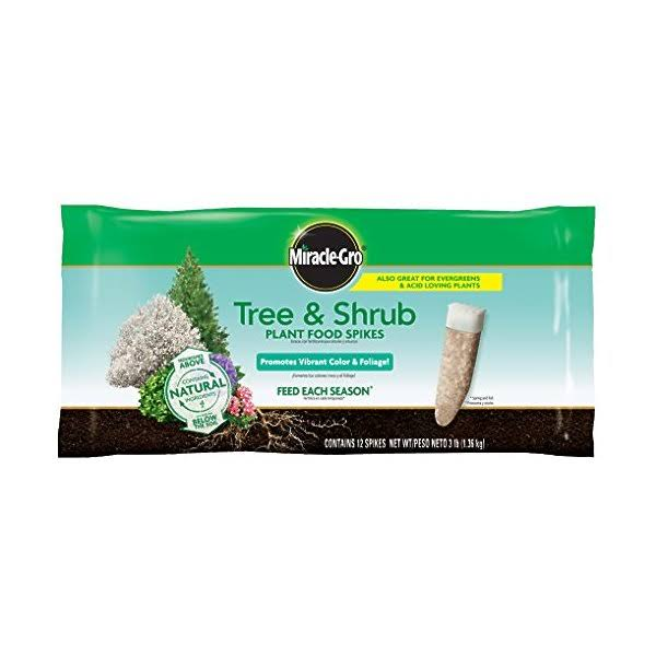 Scotts Miracle Gro Tree and Shrub Fertilizer Spikes - 12pk