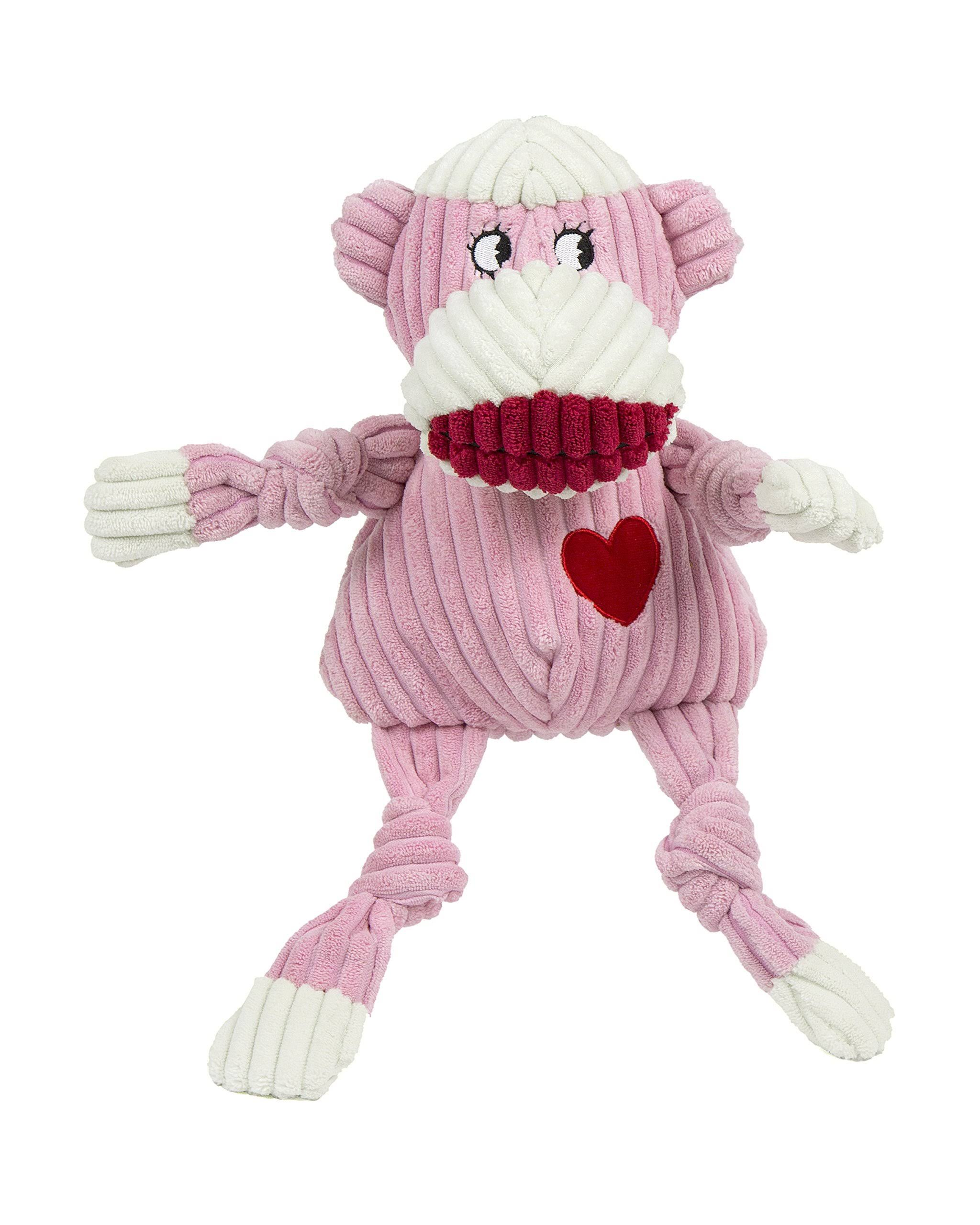 Hugglehounds Plush Durable Corduroy Ms. Sock Monkey Knottie - Large