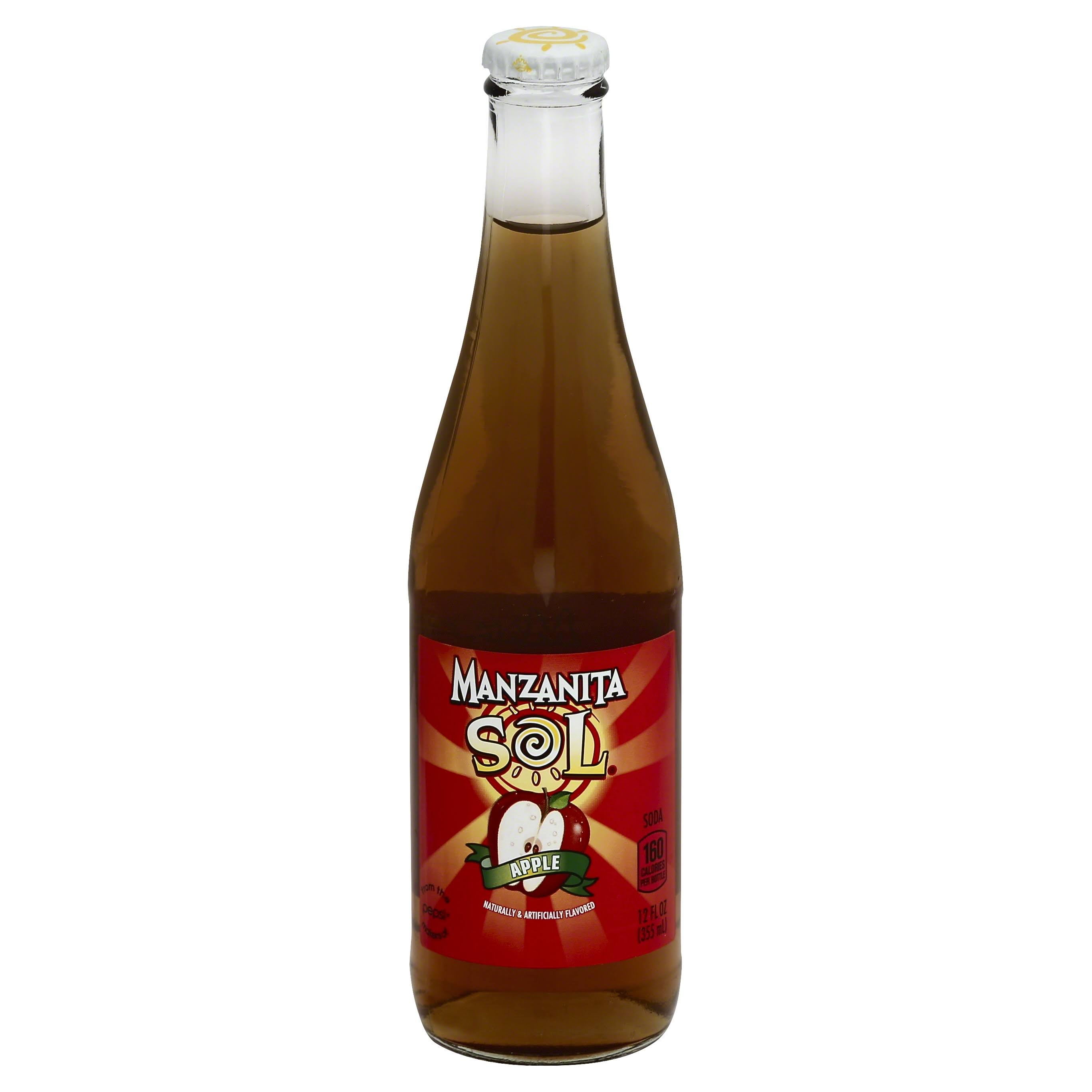 Manzanita Sol Flavored Real Juice Soda - Apple, 12oz