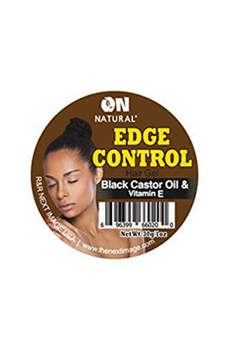 Curl & Wavy On Natural Organic Edge Control Hair Gel - Black Castor Oil & Vitamin E, 1 Oz