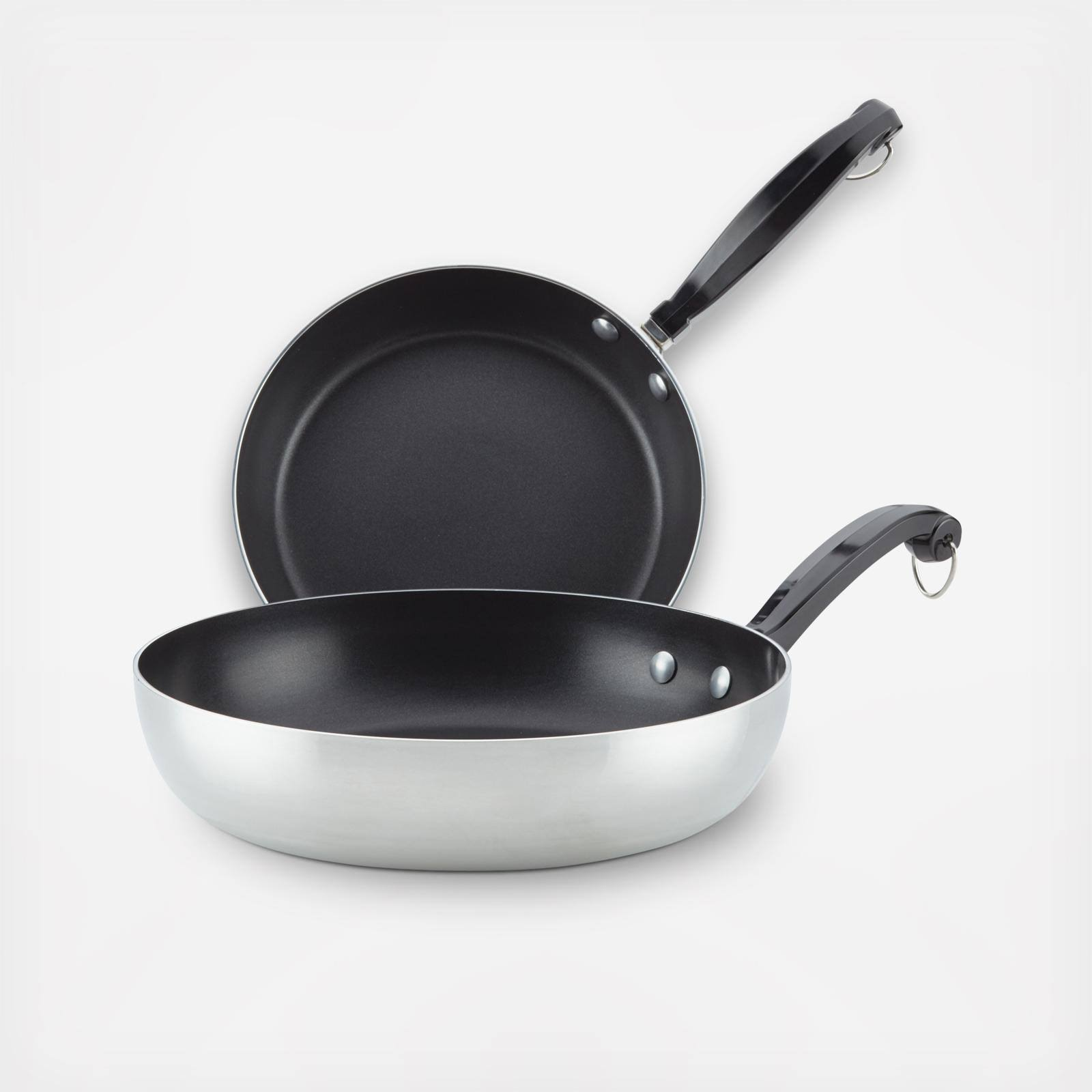 Farberware Classic Series II Aluminum Nonstick Twin Pack Skillet Set in Black
