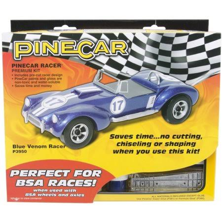 Pine Car Premium Racer Kit - Blue Venom