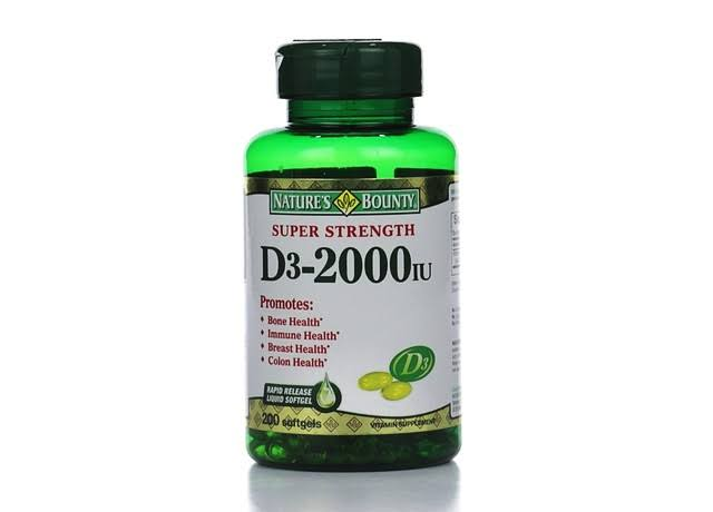 Nature's Bounty D3 Vitamin Supplement - 2000 IU, 240 Count