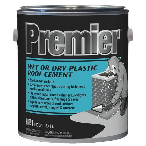 Premier Wet or Dry Plastic Roof Cement