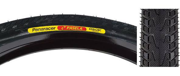 Panaracer Pasela Wire Bead Tire - Black with Black Sidewall, 700mm x 25mm