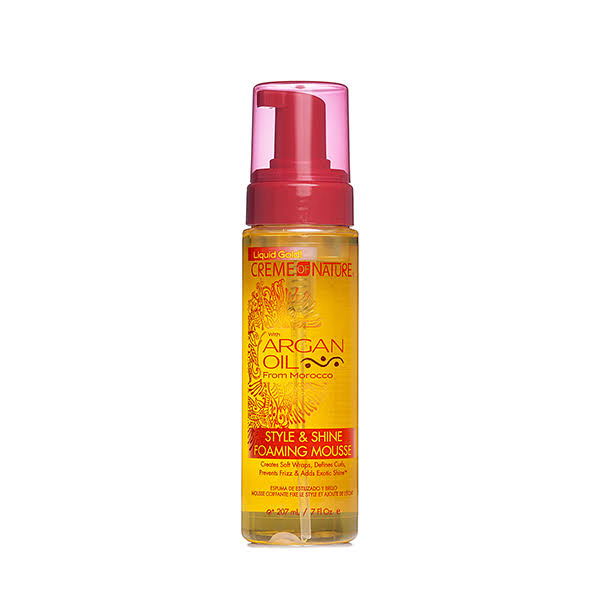 Creme of Nature Argan Oil Style and Shine Foaming Mousse - 207ml