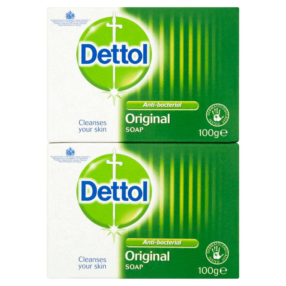 Dettol Original Antibacterial Bar Soap - 2 x 100g