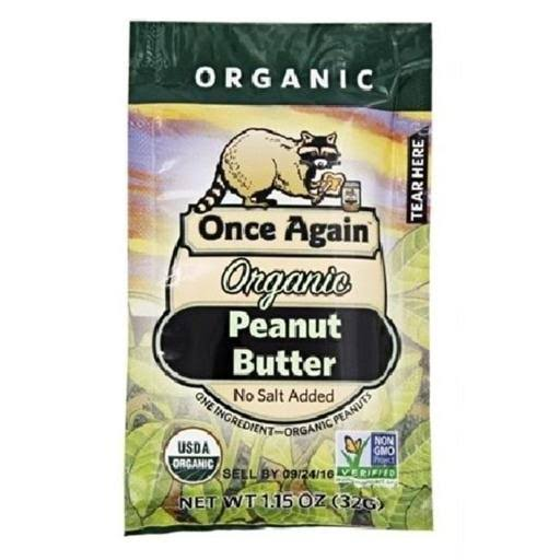 Once Again Organic Peanut Butter, Squeeze Bottle, 1.15 oz
