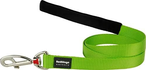 Red Dingo Classic Dog Leash - Lime Green, Medium