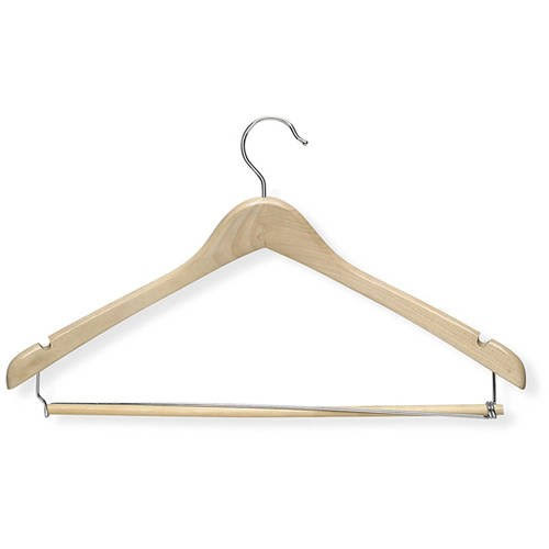 Honey Can Do Contoured Suit Hanger - Maple, Pack of 3