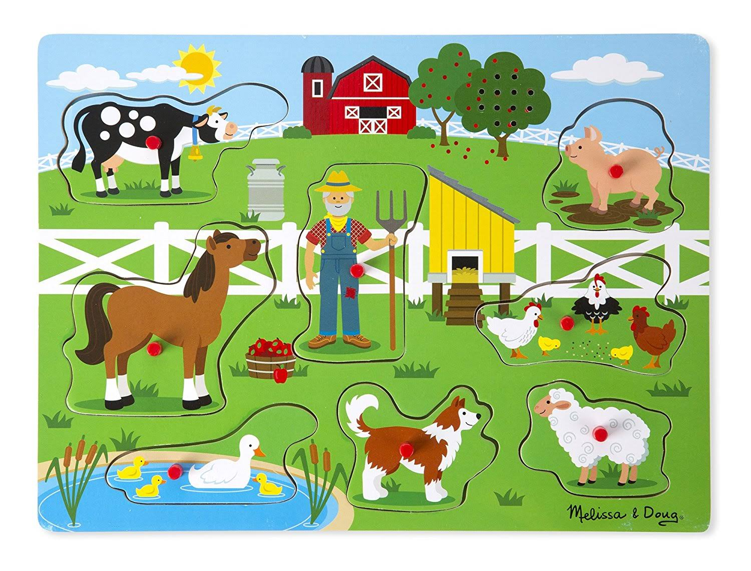 Melissa & Doug Sound Puzzle- Old MacDonald's Farm