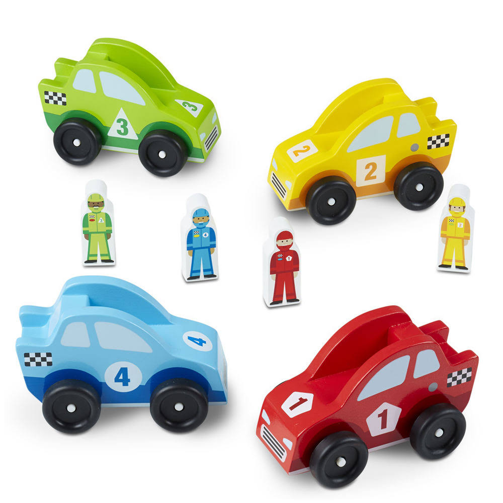 Melissa & Doug Classic Toy Race Car Vehicle Set