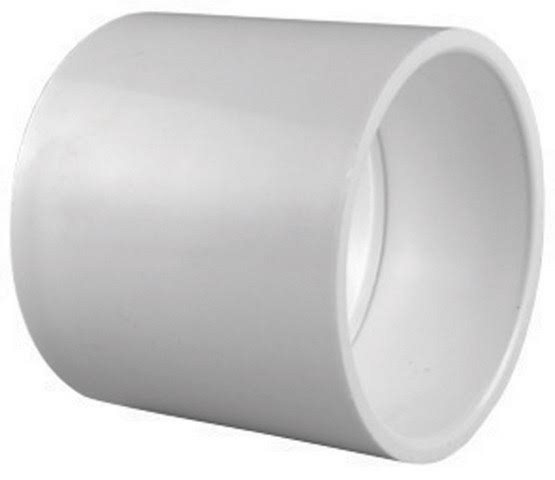 Charlotte SCH 40 PVC Pipe Coupling - 4x4 in, White