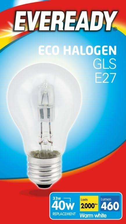 Eveready Eco Gls E27 Halogen Bulb - 33W