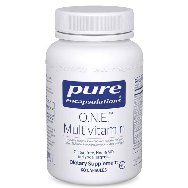 Pure Encapsulations O.N.E. Multivitamin with Metafolin L-5 MTHF - 60 Capsules