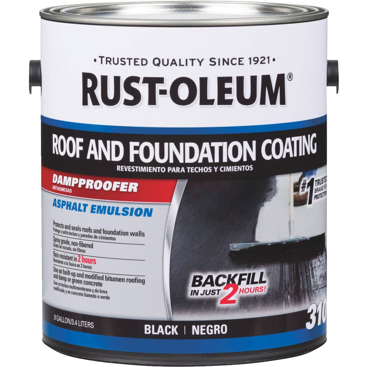 Rust-Oleum 302225 310 Roof and Foundation Coating Black Gal