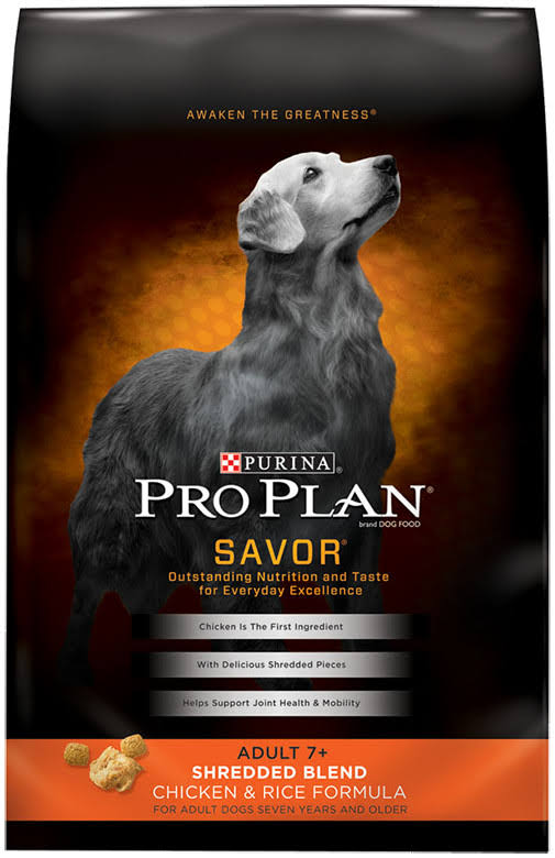 Purina Pro Plan Savor Dry Adult Dog Food - Shredded Blend Chicken & Rice Formula, 34lb