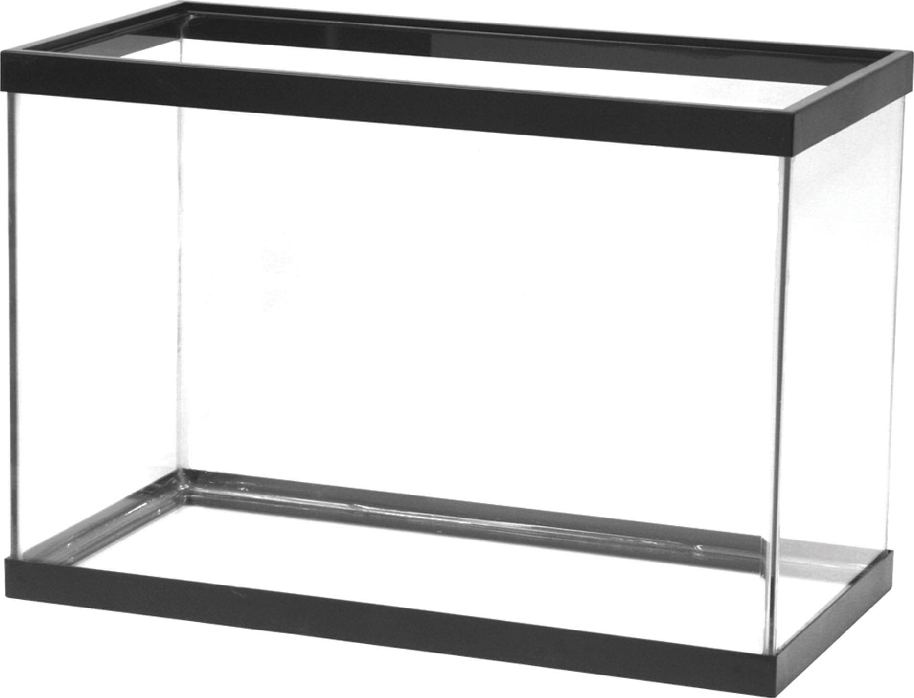 Aqueon 20 Gal High Standard Aquarium Tank, Black Trim