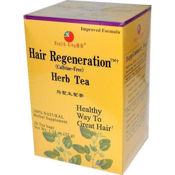 Health King Hair Regeneration Herb Tea - 20 Tea Bags, 32g
