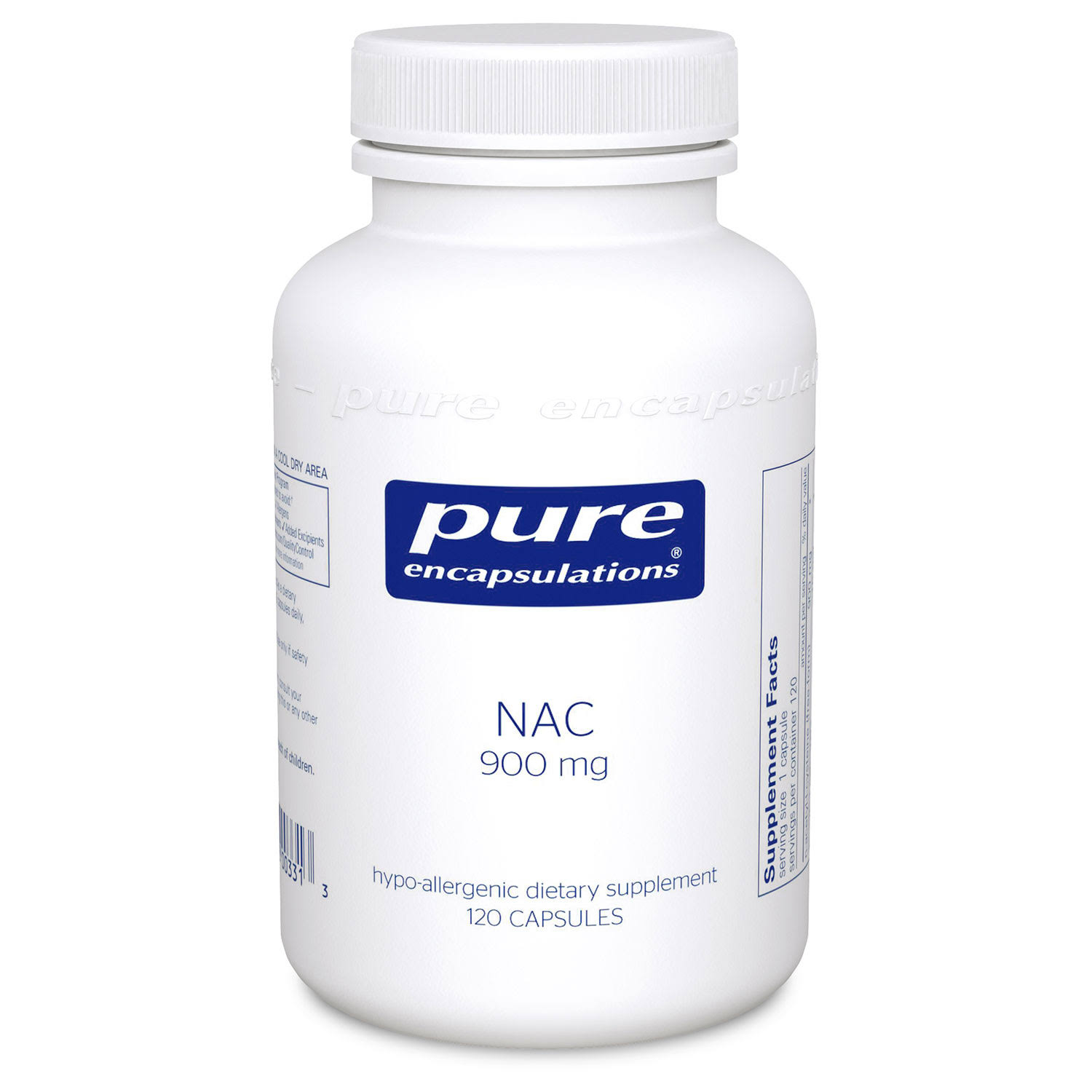 Pure Encapsulations Nac - 120's, 900mg