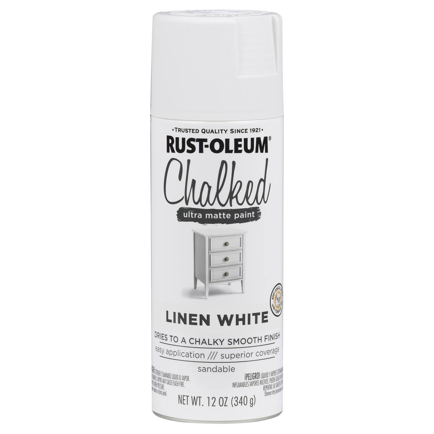 Rust-Oleum Ultra Matte Interior Chalked Spray Paint - 12oz, Linen White