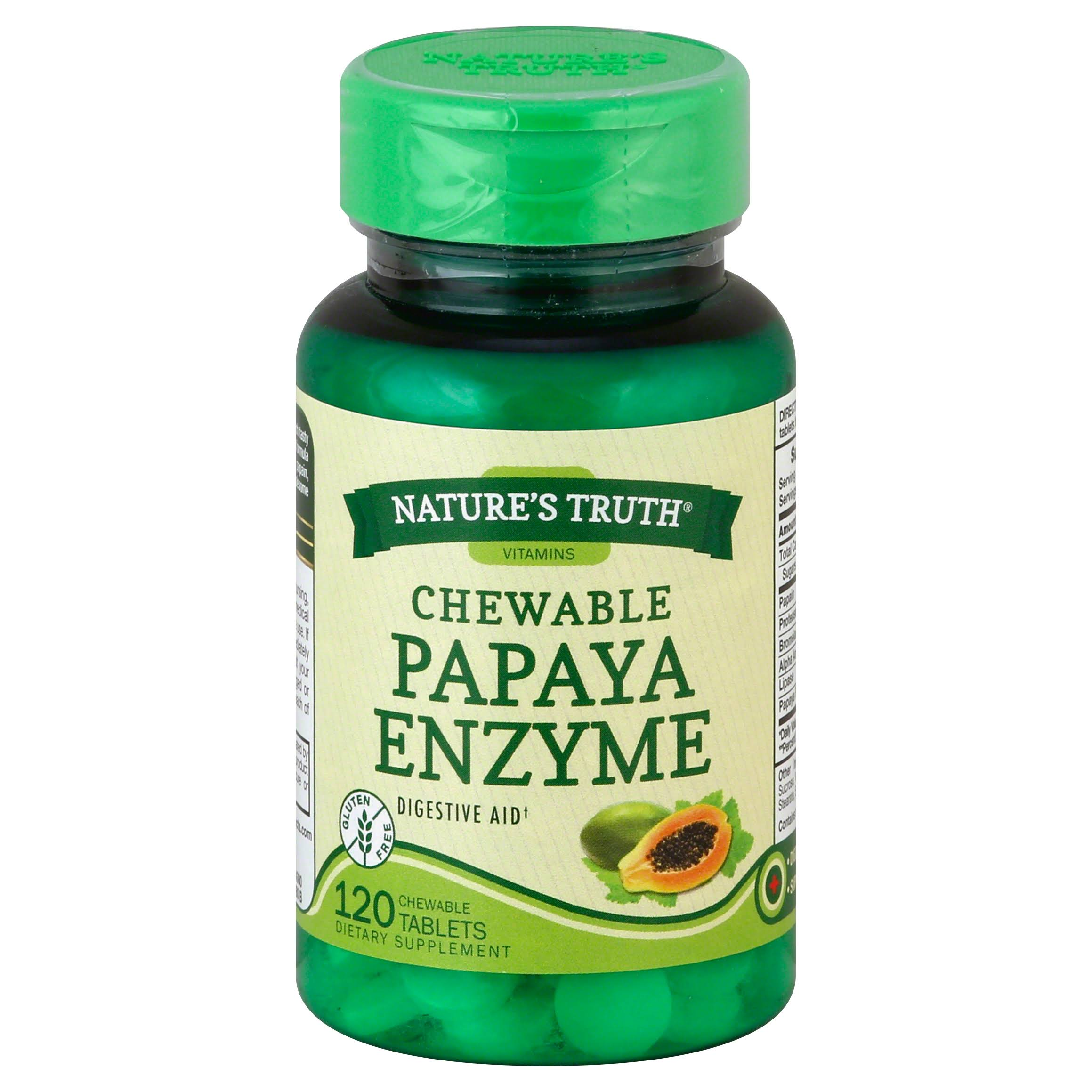 Nature's Truth Chewable Papaya Enzyme Tablets - x120