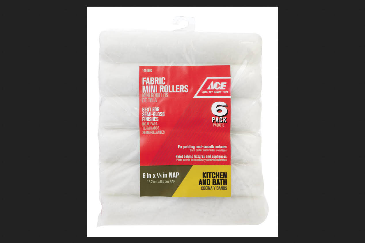 Ace Fabric Mini Rollers - 6 Pack