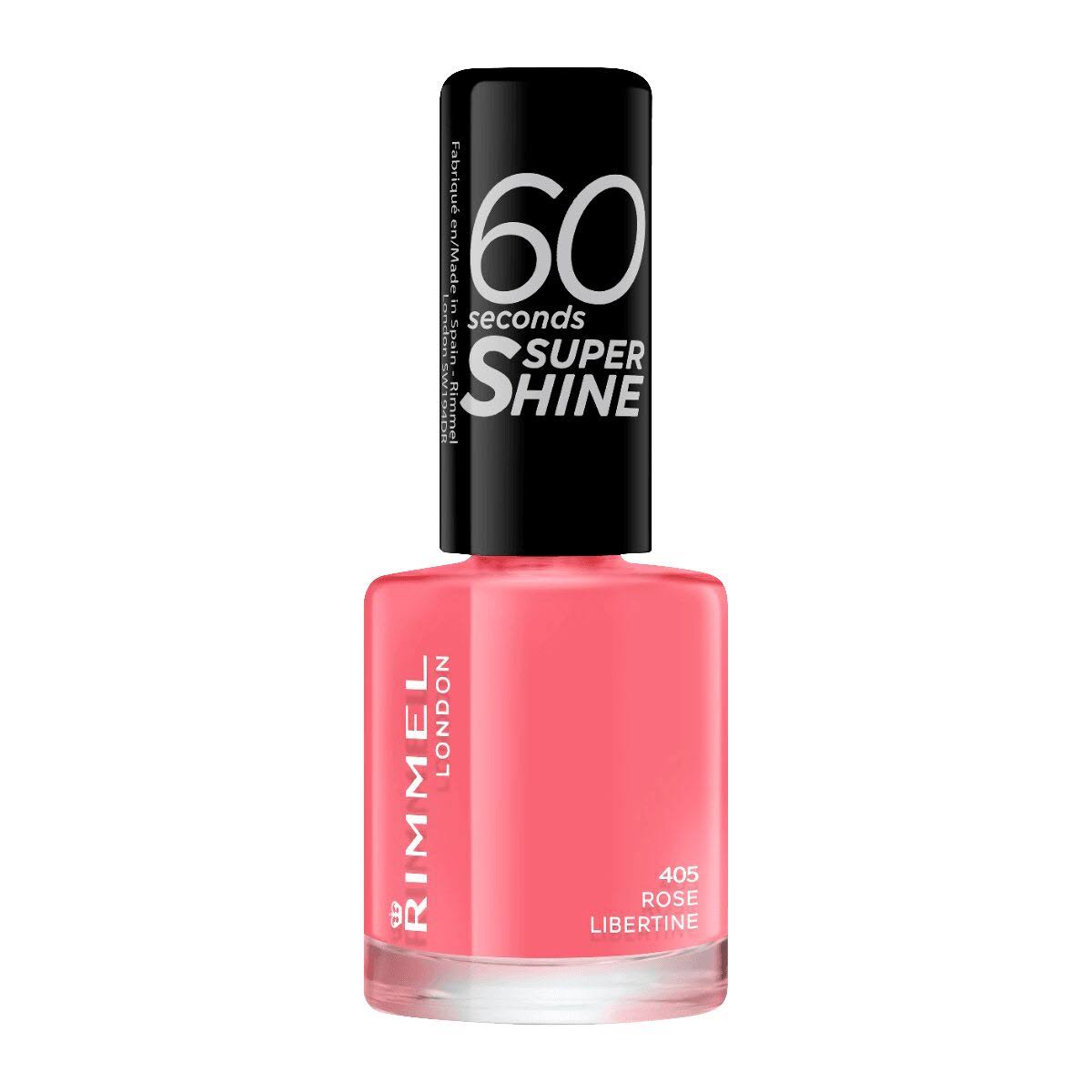 Rimmel London 60 Seconds Super Shine Nail Polish - 405 Rose Libertine, 8ml