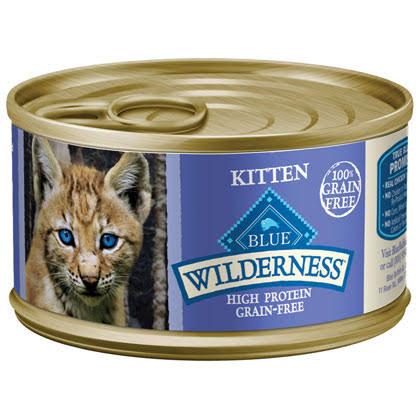 Blue Buffalo Wilderness High Protein Pate Wet Cat Food - Chicken Recipe, 3oz
