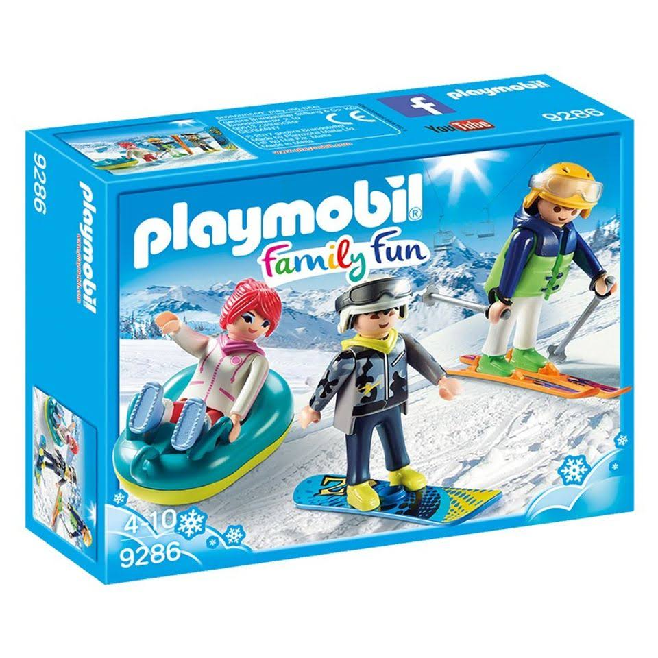 Playmobil Family Fun Winter Sports Trio Building Set