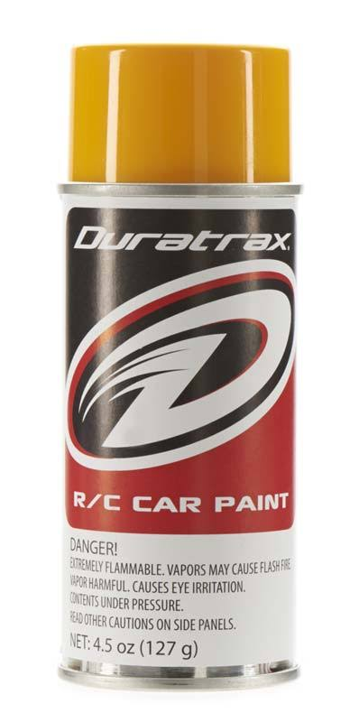 Duratrax Polycarbonate Radio Control Vehicle Body Spray Paint - Bright Yellow, 4.5oz