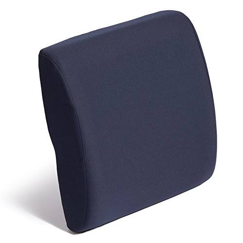 Hermell Products Cooling Gel Memory Foam Lumbar Cushion, Navy, 1.4kg