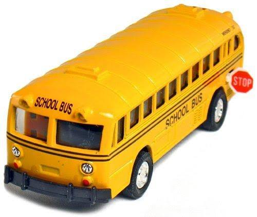 Playmaker Toys Diecast Classic School Bus Pull Back Action Car Toy - 5""