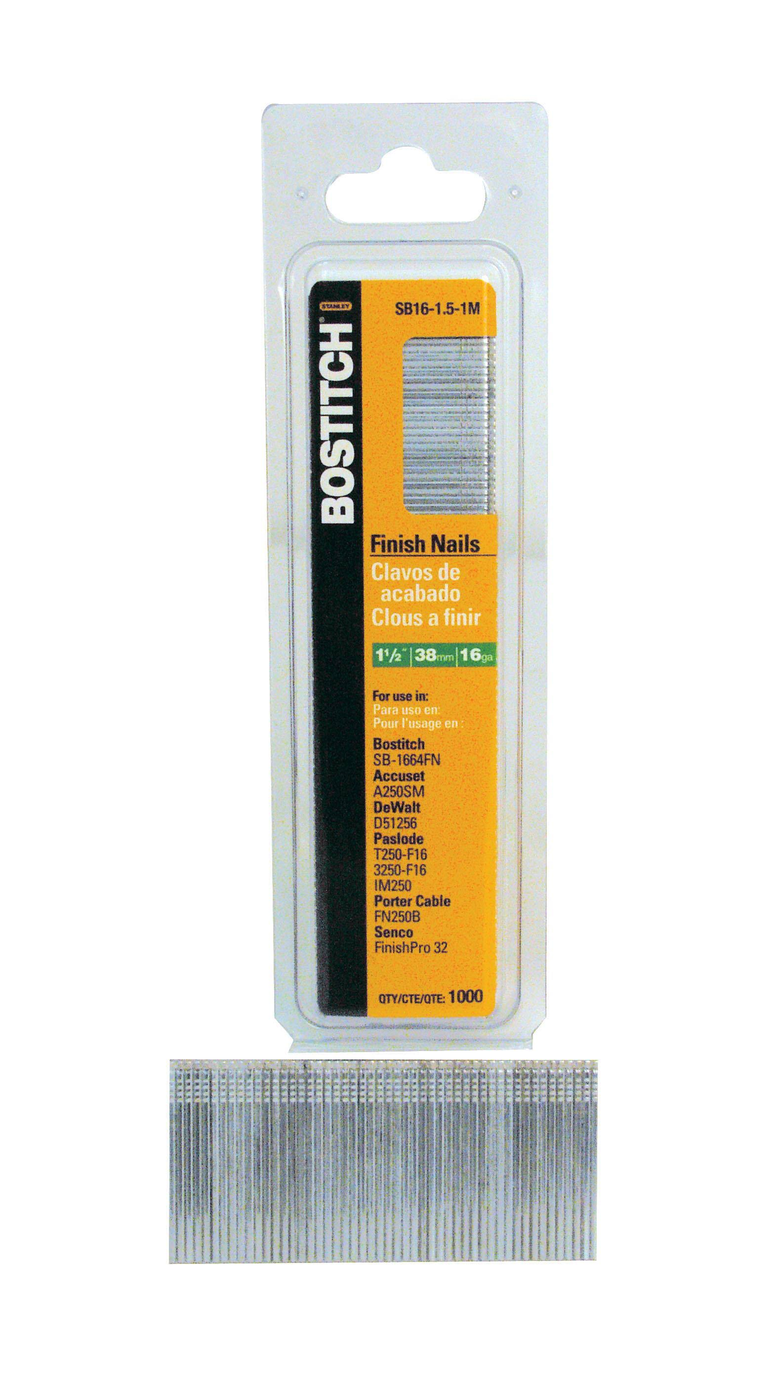Stanley Bostitch Finish Nail - 1-1/2""
