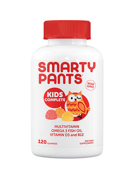 Smartypants Kids Complete Gummy Vitamins - with Omega 3, Fish Oil and Vitamin D, 120 Count